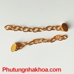 Lingual button with chain Gold